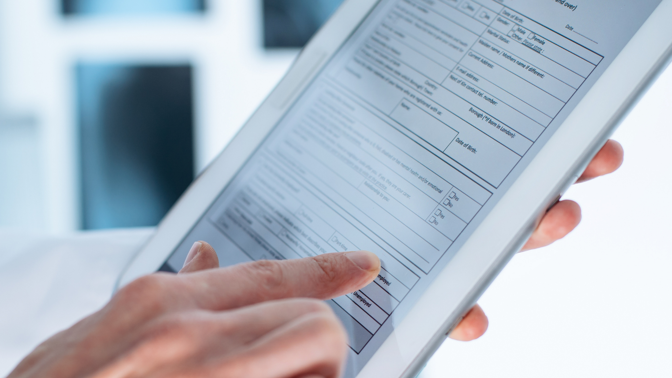 Electronic Web Forms