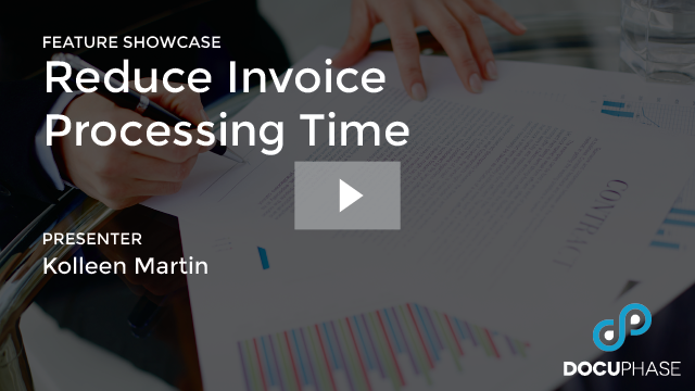REDUCE INVOICE PROCESSING TIME