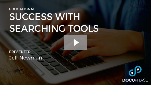 SUCCESS WITH SEARCHING TOOLS