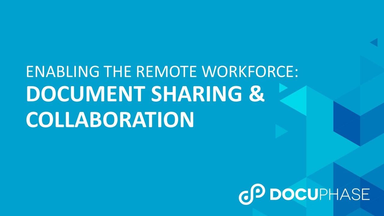 WEBINAR: Document Sharing & Collaboration