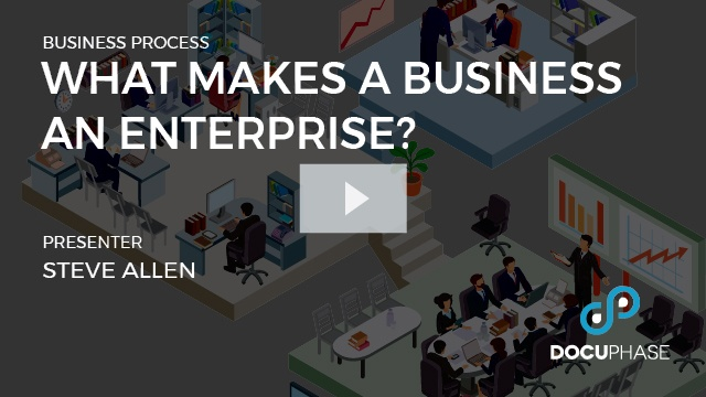 What makes a business an enterprise?