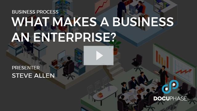 What makes a business an enterprise?