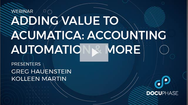 WEBINAR: Adding Value to Acumatica